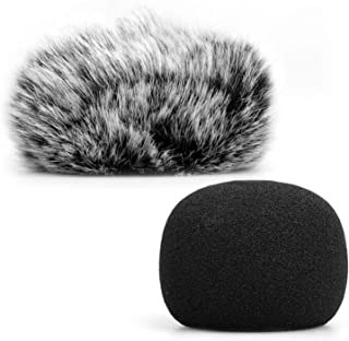 ChromLives Microphone Windscreen, Furry Windscreen Muff Wind Cover + Foam Microphone Windscreen Cover Compatible with Zoom...