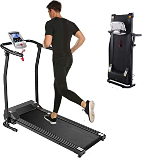 Kenchend Folding Treadmill, Auto Stop Safety Functioz Electric Treadmills for Home with LCD Display, Running Walking Jogging Exercise Fitness Machine for Home Gym
