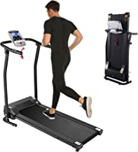 Kenchend Folding Treadmill, Auto Stop Safety Functioz Electric Treadmills for Home with LCD Display, Running Walking Joggi...