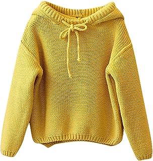 K-Youth Sudadera con Capucha Niño Punto Suéter Niña para 2 a 6 Años Jersey para Niñas Blusa de Punto Niño Invierno Ropa Be...