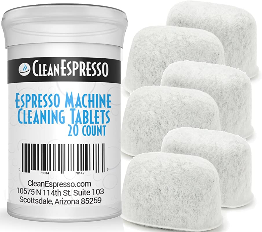Breville Espresso Machine Cleaning Tablets And Filters 2 Gram Espresso Cleaning Tablets Replacement Water Filter Espresso Machine Cleaner Accessories By CleanEspresso 20 Tablets 6 Filters