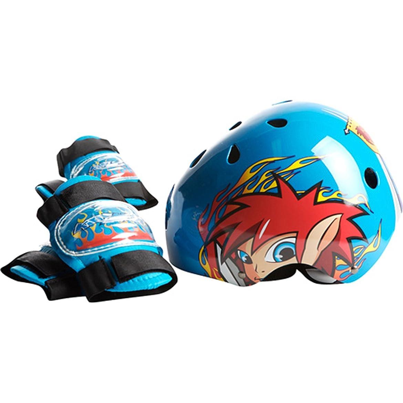 オーナメントアイドル広範囲にラングスジャパン(RANGS) KIDZAMO(キッザモ) ヘルメット&プロテクターセット Boys (Coby)コビー