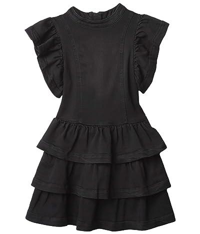 HABITUAL girl Paeton Tiered Ruffle Denim Dress (Big Kids) Girl