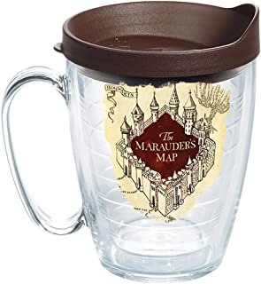 Tervis Harry Potter-the Marauder's Map Insulated Tumbler with Wrap and Brown Lid, 16 oz Mug, Clear
