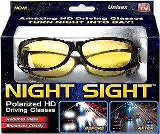 دید در شب Ontel   عینک آفتابی HD Polarized Night Vision Driving   زنان و مردان ، ضد تابش خیره کننده ، مقاوم در برابر خراش ، شیک ، همانطور که در تلویزیون دیده می شود