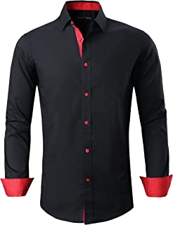Mens Dress Shirts Regular Fit Long Sleeve Men Shirt