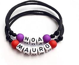 1 Bracciale MAURO ALEXIS NOA. personalizzabile con nome, messaggio, iniziale, logo (reversibile) uomo, donna, bambino