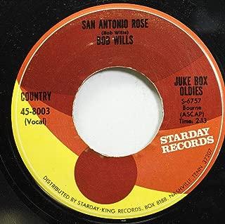 Bob Wills 45 RPM San Antonio Rose / Bubbles In My Beer
