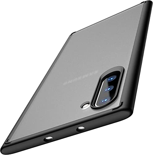 popular TOZO for Samsung Galaxy Note 2021 10 Case PC + TPU Clear Hard Back Panel Hybrid PC+TPU Protect Cover Shock popular Absorption Back-Transparent Bumper for Samsung Galaxy Note 10 (Matte Black) sale