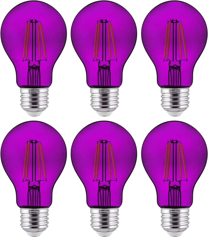 Sunlite 40945 A19 Standard LED Filament Transparent Phoenix Mall Daily bargain sale Dimmabl 4.5W