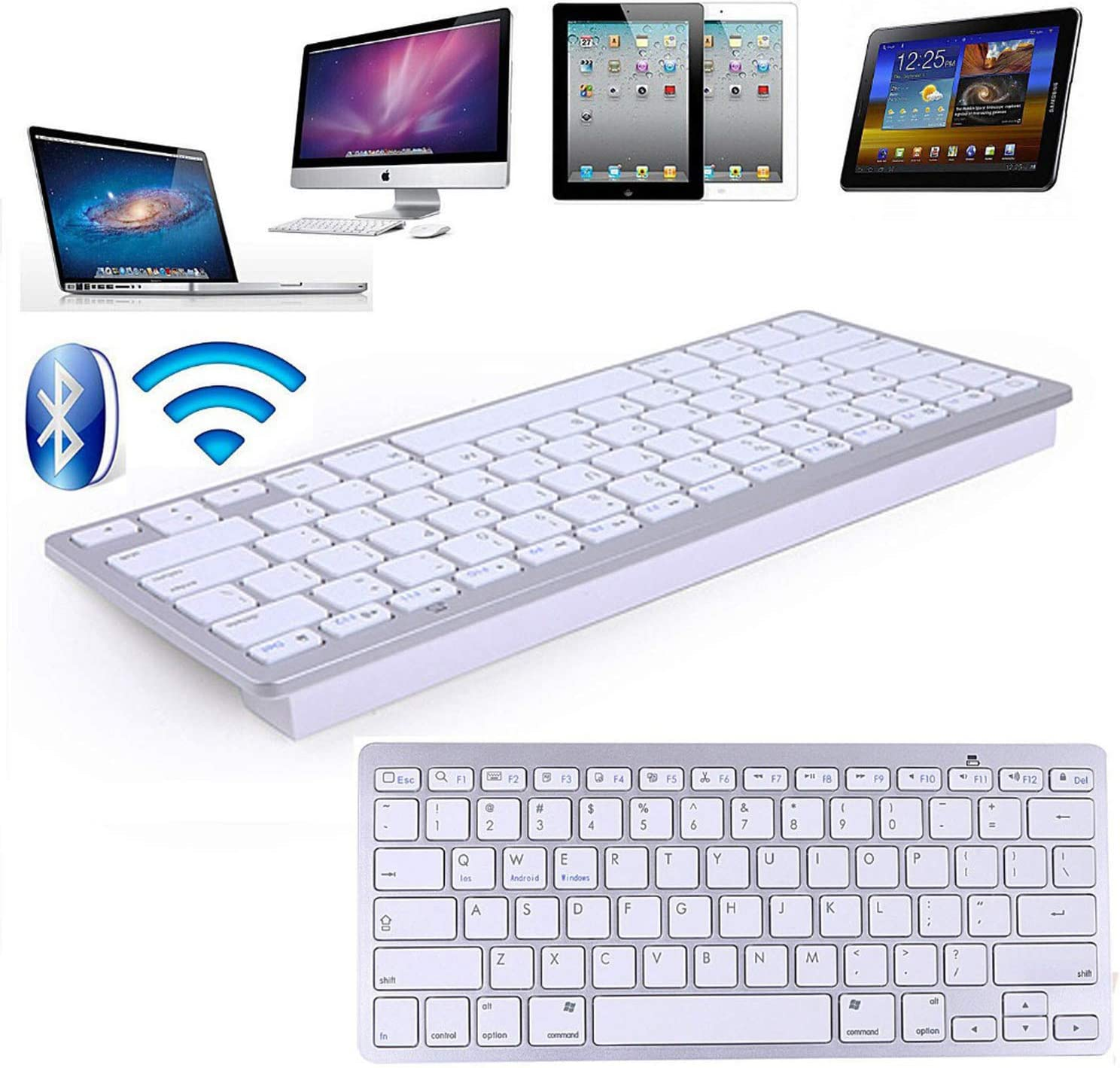 Russian Wireless Bluetooth 3.0 Keyboard for Tablet Laptop Smartphone Support iOS Windows Android System,Russian and English1