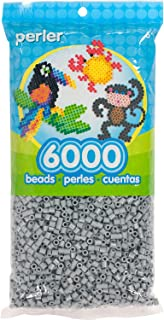 Perler Beads Fuse Beads for Crafts, 6000pcs, Gray