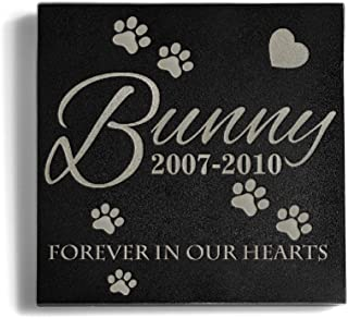 a Personalized Memorial Pet Headstone Customized 6 x 6 Granite Dog or Dog Memorial