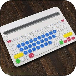 TOIT Toetsenbordbescherming voor Logitech K480 Bluetooth toetsenbord, meerdere apparaten, siliconen, stofdicht, draadloos,...