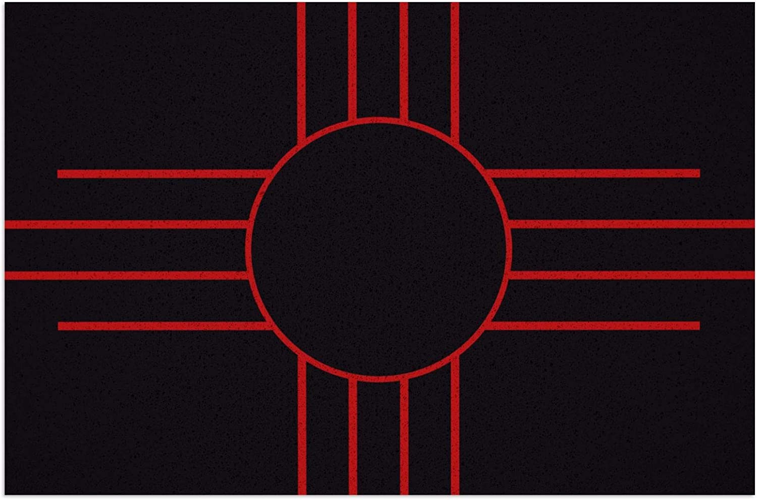Flag Map of New Mexico Doormat Mat Non 1 year warranty Waterproof In a popularity Slip Outdo PVC