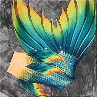 HJKKLL Traje De Bano Sirena For Niñas con Bikini, Baño COS Traje De Baño Traje De Sirena Sirena Tamaño Personalizado Traje...