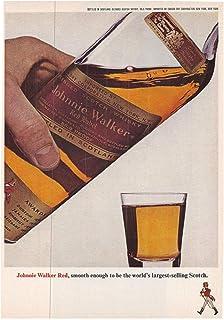 1965 Vintage Alcohol Advertisement Johnnie Walker Red Label Scotch Whiskey
