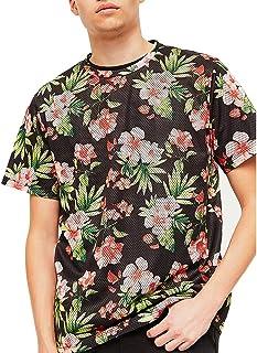 QIYIBO Men's Crew Neck Casual Cotton Short Sleeve Letter Print T-Shirt