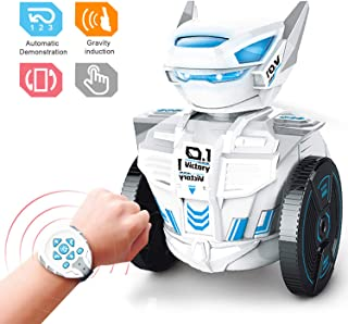 Refial STEM Robot Toy, RC Robot Toys Kit,Intelligent Gravity Induction Robot RC by Watch ,Learning Educational Building Toy Best Gift for Kids