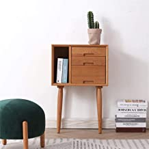 Bedroom Bedside Table Storage Cabinet Solid Wood Table for Nightstand End Table with 3 Storage Drawer for Living Room Sofa