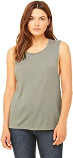 Product of Brand Bella + Canvas Ladies Flowy Scoop Muscle Tank Top - White - S - (Instant Savings of 5% & More)