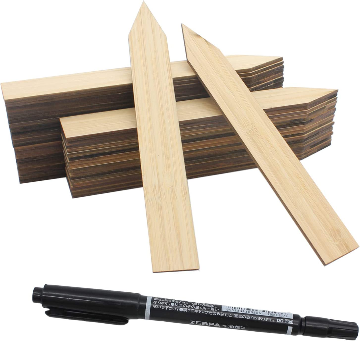Max 58% OFF Mziart 50Pcs Bamboo Plant Labels with Waterproof Inexpensive A Marker Pen P
