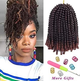 3Pcs/lot Spring Twist Ombre Colors Crochet Braids Bomb Twist Hair Synthetic Braiding Hair Extensions Low Temperature Fiber (8inch, 1B/350)