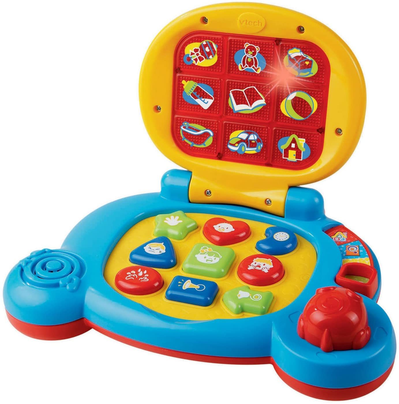 Amazon Com Vtech Baby S Learning Laptop Toy Frustration Free Packaging Blue Toys Games