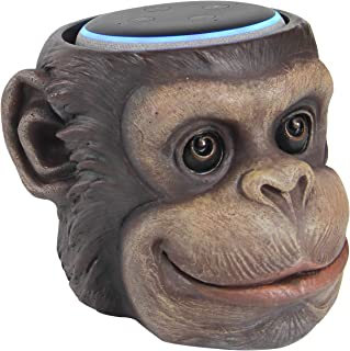 Monkey Statue Crafted - Smart Speaker Stand Holder for Echo Dot 3rd Generation Speakers Holder Best Gift Idea for Smart Home