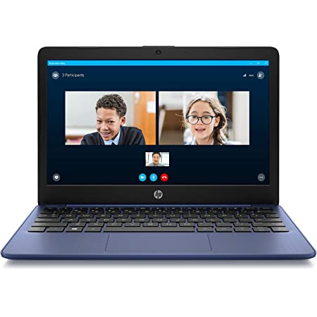 HP Stream 11.6-inch HD Laptop, Intel Celeron N4000, 4 GB RAM, 32 GB eMMC, Windows 10 Home in S Mode with Office 365 Personal for 1 Year (11-ak0010nr, Royal Blue)