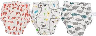 NUOBESTY 3 Peças de Calça de Treinamento de Bebê para Criança Algodão Xixi Penico Cueca de Treinamento
