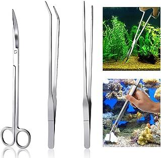 Meiso Aquarium Kit Tool Accesorios acero inoxidable Acuario tanque planta de agua Alicates Tijeras Herramientas Set Fish S...
