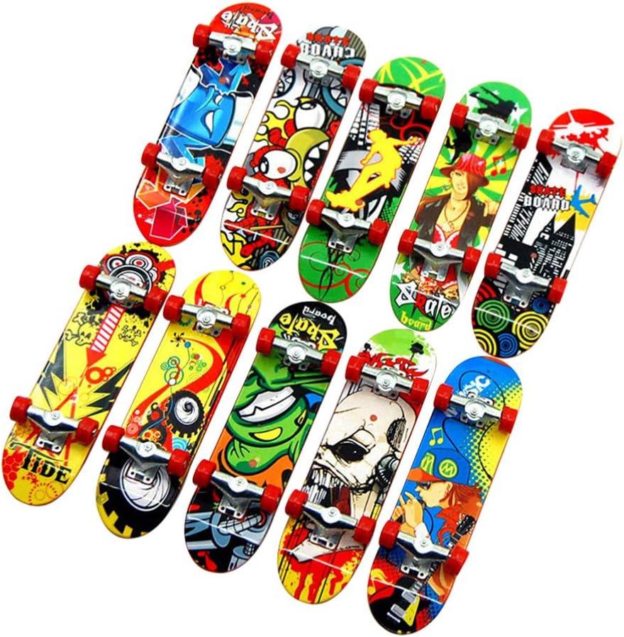 Max 43% OFF Toyvian 24pcs Max 41% OFF Mini Skateboard Toy Skateboards Board Scoot Finger