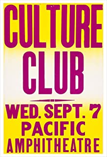 Culture Club Concert Poster Print by delovely Arts