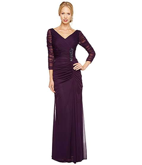 Adrianna Papell Drape Covered Gown at Zappos.com