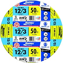 Southwire 63947622 12/3WG NMB Wire 50-Foot
