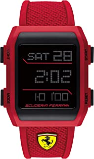 Scuderia Ferrari Men's Digital Quartz Watch with Silicone Strap 0830740
