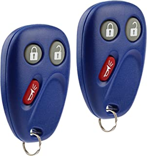 Key Fob Keyless Entry Remote fits Buick Rainier / Chevy Trailblazer / GMC Envoy / Isuzu Ascender / Oldsmobile Bravada (15008008 15008009 Blue), Set of 2