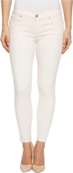 7 For All Mankind - The Ankle Skinny w/ Released Hem in Pink Sunrise