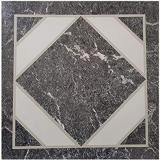 Floor Tiles Adhesive Vinyl Flooring Kitchen Bathroom Grey Black Marble Mosaic