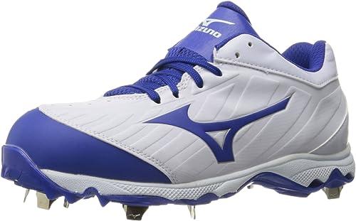 Mizuno Wohommes 9-Spike Advanced Sweep 3 Softball chaussures, blanc-Royal, 7 D US