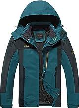 TACVASEN Heren Sport Jas Ademend Outdoor Waterbestendig Wandelen Mountain Jacket Multi-Pockets