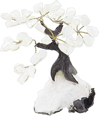 The Bridge Collection Geode Gem Tree Figurine, 5 Inches (Crystal)