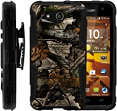 TurtleArmor   Compatible with Kyocera Hydro Wave Case   Hydro Air Case [Hyper Shock] Hybrid Dual Layer Armor Holster Belt Clip Case Kickstand - Tree Leaves Camouflage