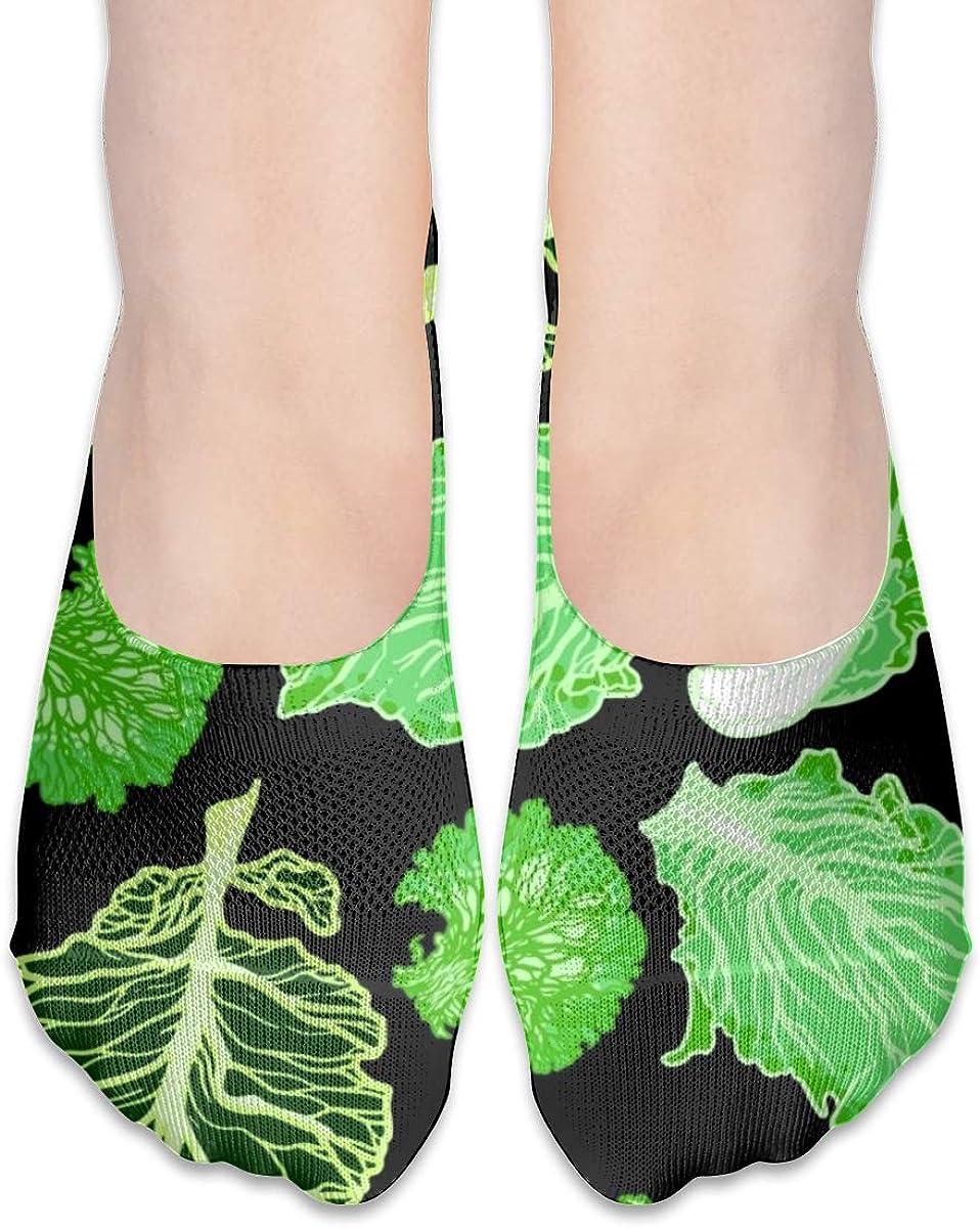 Casual Lettuce Vegetable Socks, No Show Socks For Women Men