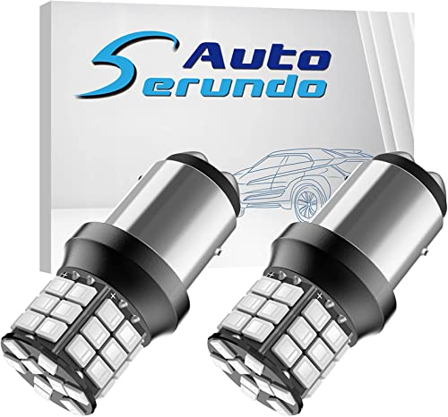 lowest Serundo Auto 1157 Led Bulb, Super 2021 Bright 12V 24V 39-SMD wholesale 2057 2357 7528 BAY15D 2057A 1157A LED Bulbs for Brake Tail, Parking Lights, Pack of 2pcs Red Color sale