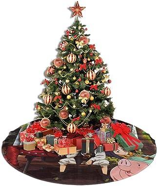 JJKKFG-H Jupe de sapin de Noël pour décoration de fond de sapin de Noël Multifonction Décoration de Noël pour l'intérieur