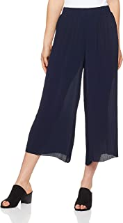 French Connection Women's Mini Pleat Culotte, Navy