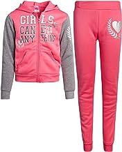 Angel Face Girls' Jogger Set - Fleece Zip-Up Hoodie Sweatshirt and Jogger Sweatpants Set