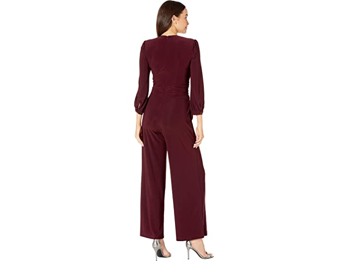 Taylor Long Sleeve Cross Front Wide Leg Jumpsuit - Women Clothing